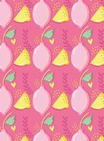 Citroenen patroon achtergrond punchy pastel
