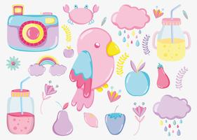 Punchy pastel cartoons collection