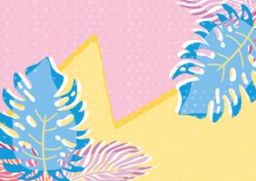 punchy pastel leavesbackground