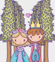 Zeichnungs-Karikaturmann Prinzessin und Prinzessin netter Handmit Sonnenbrille und Dollarsymbol innerhalb der Chatblase