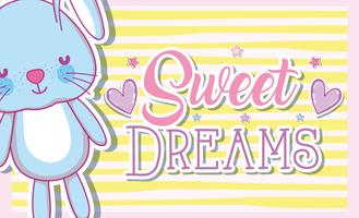 Sweet dreams card with cute bunny