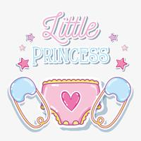 Little prinses babymeisje kaart