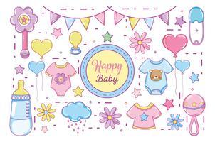 Desenhos de bebê feliz