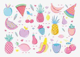 Collection de fruits Punchy Pastels