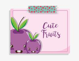 Desenhos animados bonitos das frutas
