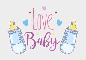 Love baby card vector