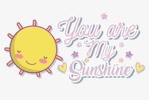 Beautiful card with message cartoons