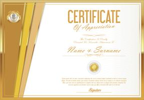 certificate with Vector illustration
