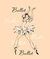 Ballet. Bailarina. Bailarín. Logo.vector ilustración.