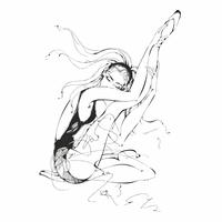 Ballerina. Danser. Ballet. Graphics. Meisje. Vector illustratie.