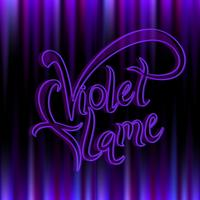 Violet flame. Divine energy.Transmutation. The Flame Of Saint Germain. Vector.