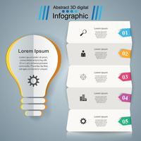 Infographic ontwerp. Bulb, licht pictogram.