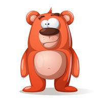 Cute, funny bear characters. vector