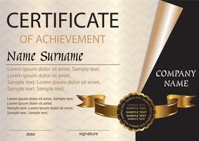 Certificaat of diplomamalplaatje. Prijswinnaar. De competitie winnen. A4-formaat.