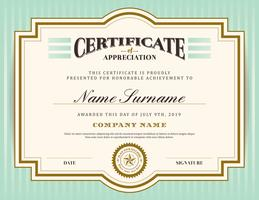 Vintage retro border and frame certificate background template