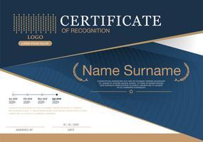 Certificaat vector luxe sjabloon