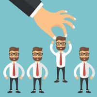 Encontre a pessoa certa para o conceito de trabalho