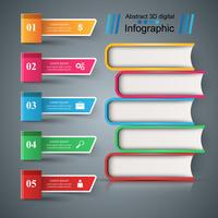 Book, read, education - school infographic. vector