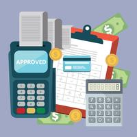 Accounting concept, planing business items. Invoice. Financial calculations