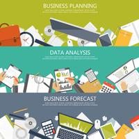 Business planning, data analysis and business forecast banners for website