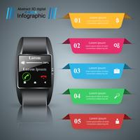 Smartwatch icon. Abstract infographic.