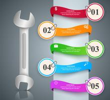 Wrench, screwdriver, repair icon. Business infographic. vector