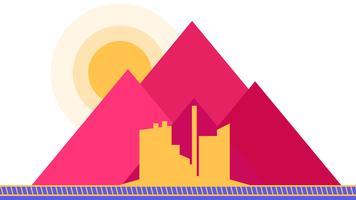 Factory, mountain flat illustration.