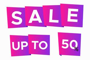 Sale discount banner template,origami style