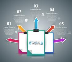 Negócios, educação, escritório - infográfico de negócios.