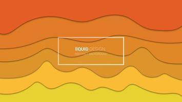 Abstract liqiud multi layers 3d design. Flowing liquid illustration for website template. Papercut.