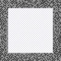 Monochrome pixel frame, borders