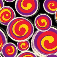 Abstract pattern with round shape forms in retro style.
