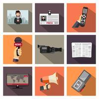 Set di icone di giornalismo
