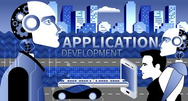 Application development modern concept