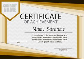 Certificaat van voltooiing sjabloon. Horizontaal. De competitie winnen. Beloning. Prijswinnaar.