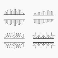 Insieme di vettore delle bandiere lineari geometrici semplici ed eleganti