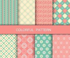 Collection de motifs colorés