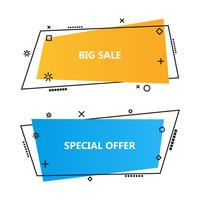 Trendy promotion business banners,speech bubbles