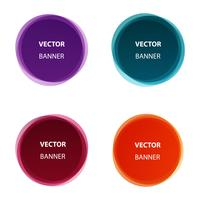 Vector set of colorful round shape abstract banners