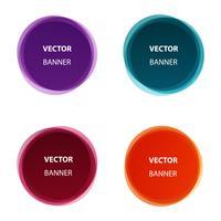 Conjunto de vetores de banners coloridos de forma redonda abstrata