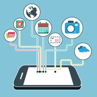 Mobile applications and mobile development concept