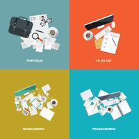 Bedrijfs en technologie pictogramserie