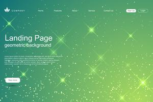 Landing page business vector template