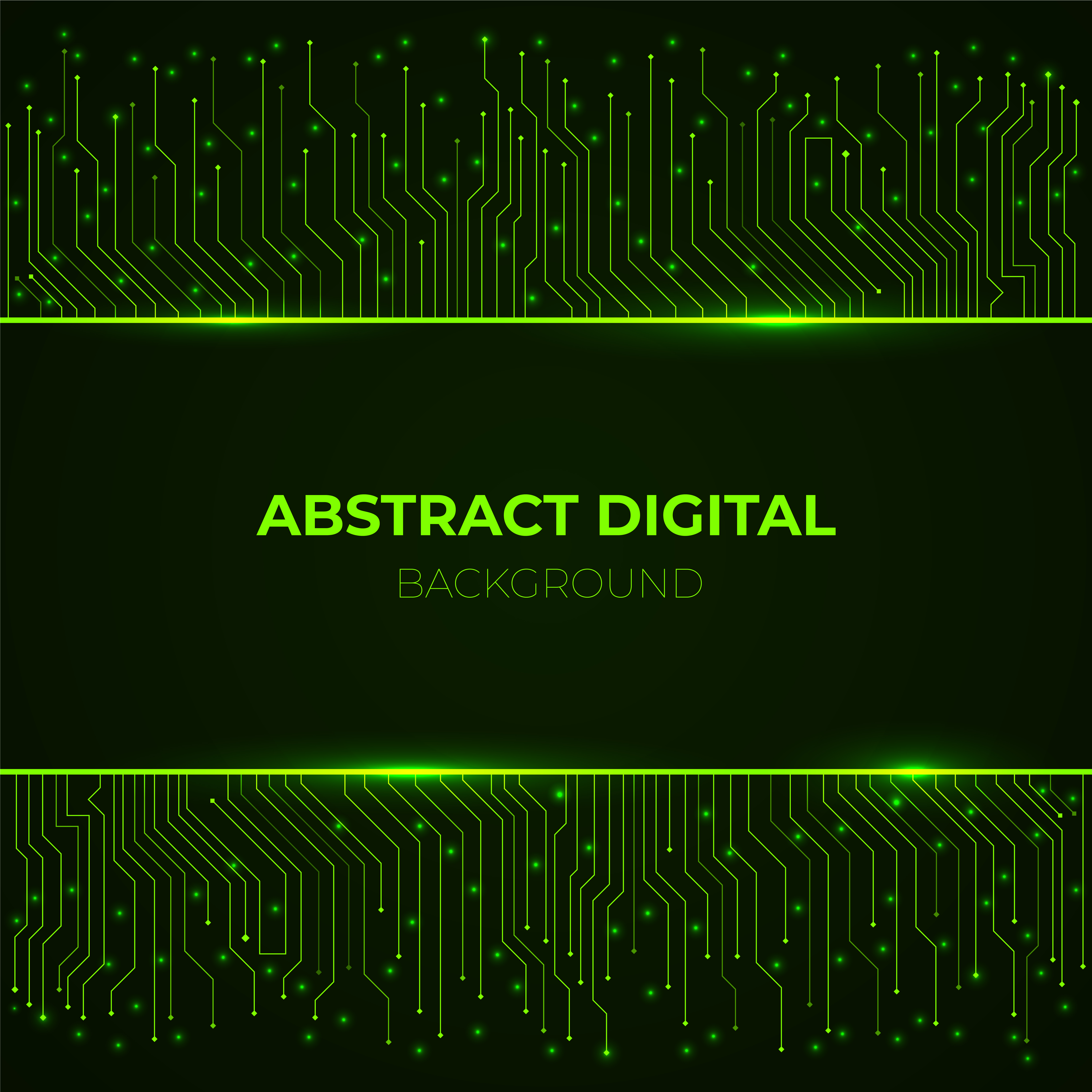 High Tech Background From Computer Green Glowing Neon Circuit Board Lines Download Free Vectors Clipart Graphics Vector Art