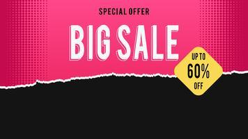 Grande vendita, vendita poster rosso e nero, carta strappata