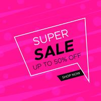 Sale discount  banner layout design vector