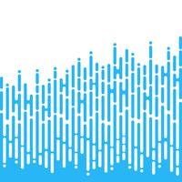 Blå oregelbundna rundade linjer i Mentis stil