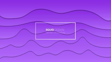Abstract liqiud multi layers 3d design. Dynamic concept design or flowing liquid illustration for website template. Papercut.