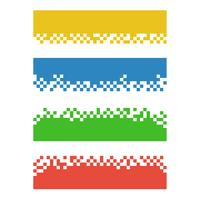 Set of color abstract pixel web banners for headers