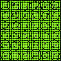 Abstract green and black background with dots,circles